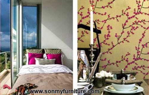 Trang trí nhà đón Tết với giấy dán tường mùa xuân-1