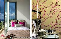 Trang trí nhà đón Tết với giấy dán tường mùa xuân