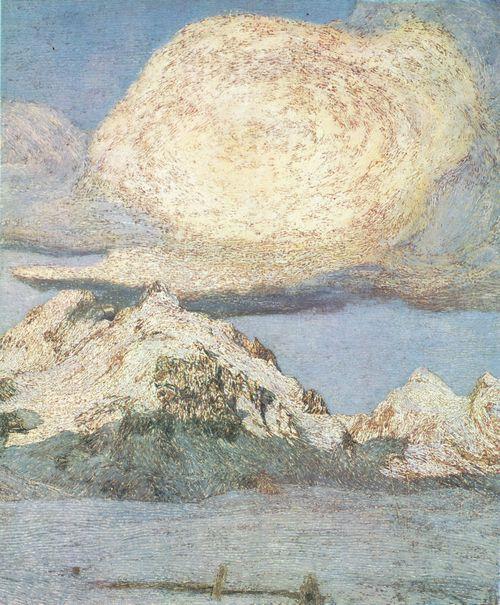 Giovanni Segantini - Alpen-Triptychon. La morte(Death), detail