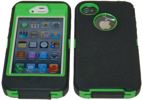 Body Armor Defender Case for iPhone 4/4S - Black and Green   http://www.usashoplist.com/cellphones/body...