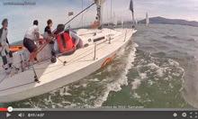 J/80 sailing off Santander, Spain