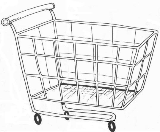 Pinto Dibujos: Carrito De Supermercado