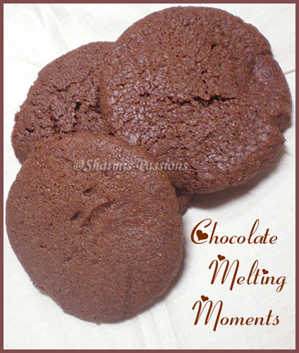 Eggless Melting Moments - Choco Cookies