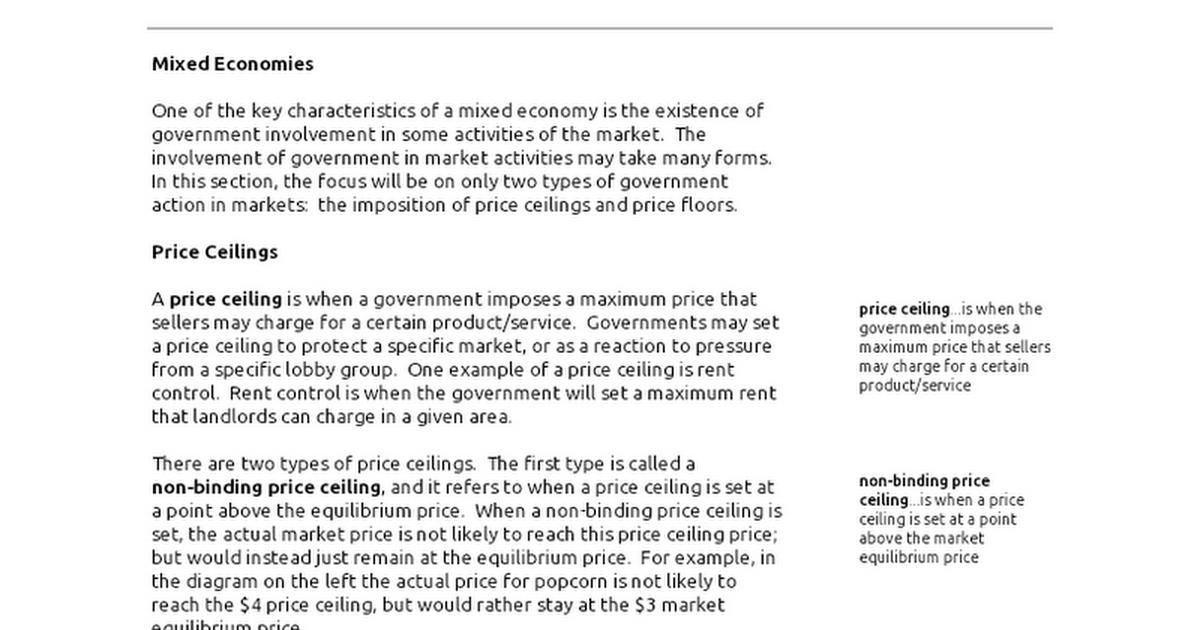 Econ 12 31 Price Ceilings Floors Google Docs