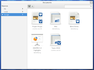 GNOME 3.2 documents