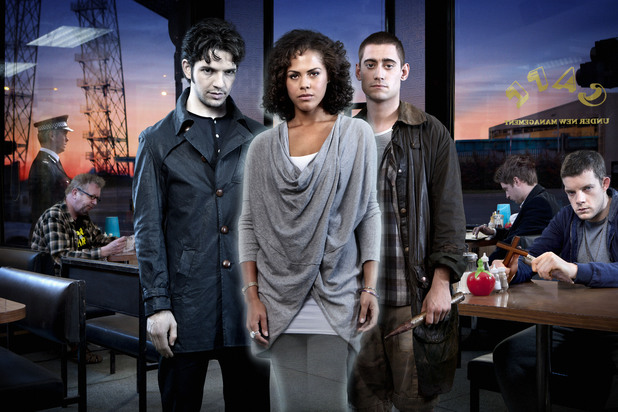 Being Human season 4 - Damien Malony is Hal, Lenora Crichlow is Annie and Michael Socha is Tom
