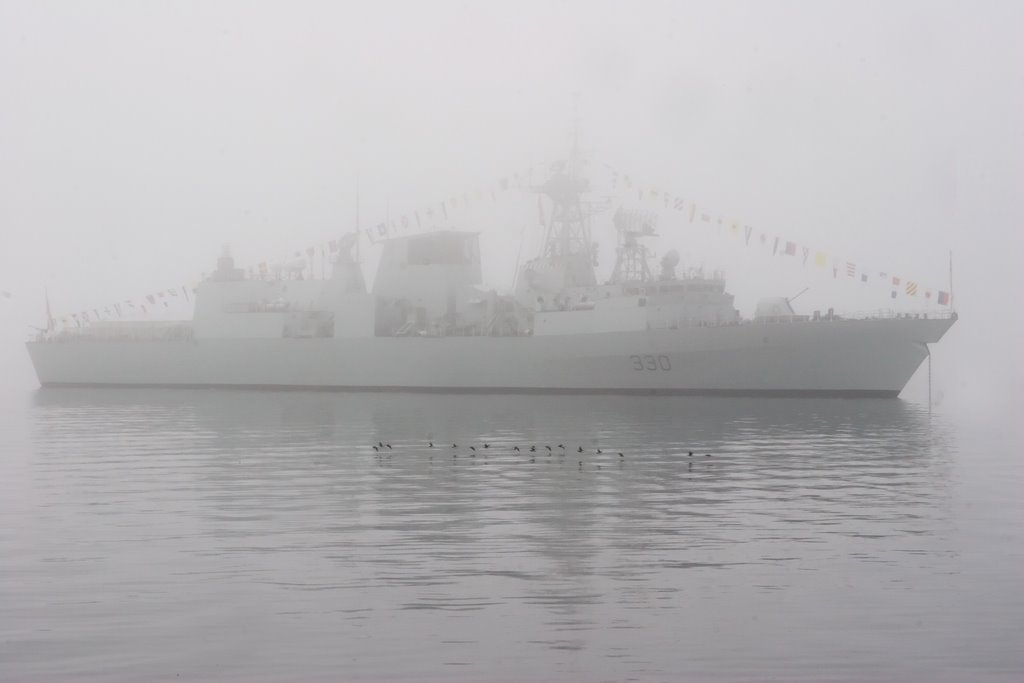 Haze grey you say? Well, here's why Canadian Patrol Frigates are coloured the way they are: the North Atlantic fog!