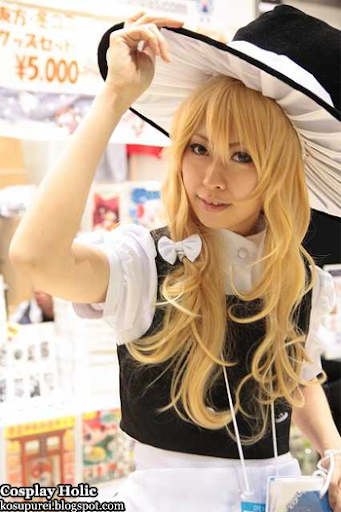 touhou project cosplay - kirisame marisa 2 from comiket 77