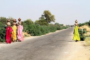 A view of a road near Nagar Parkar, Sindh