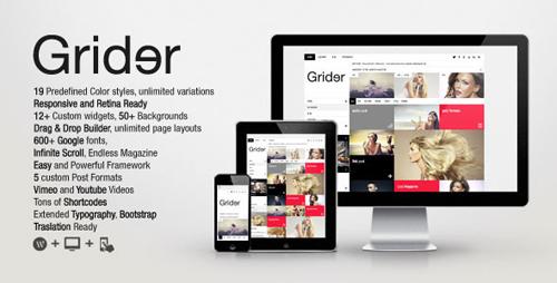 Grider Retina Responsive Blog/Magazine