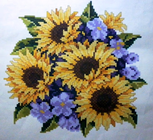 Sun Flowercross stitch pattern