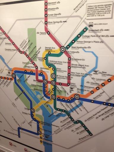 ワシントンの地下鉄マップ