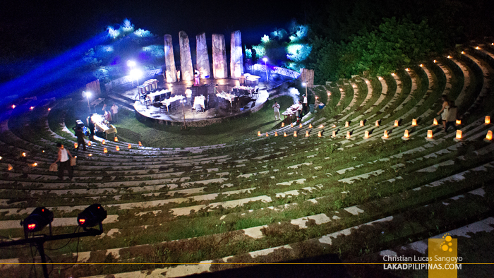 The Ampitheater at Night at Albay's Misibis Bay