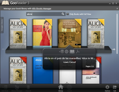 GooReader: leer libros desde el escritorio de Windows