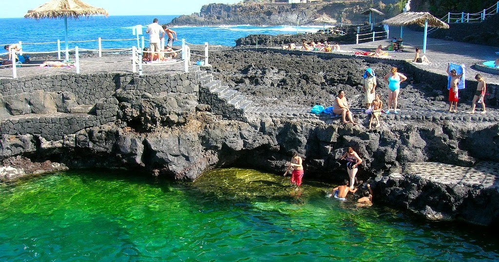 isla la palma piscinas naturales charco azul naturaleza