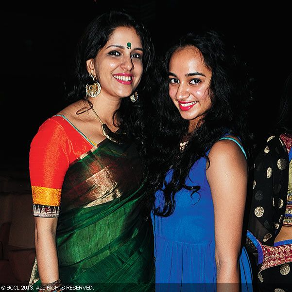 Aparna Nair and Apoorva Bose during Vinu Mohan, Vidya's wedding reception held in Kerala.