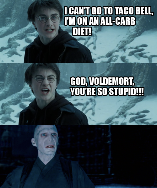 Funny comic about Harry Potter and Voldemort