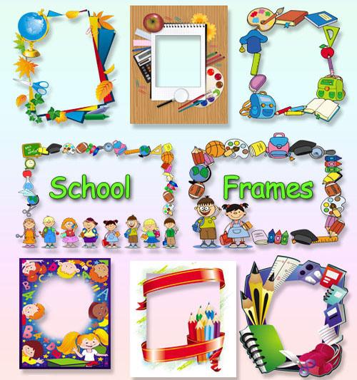 School frames PNG