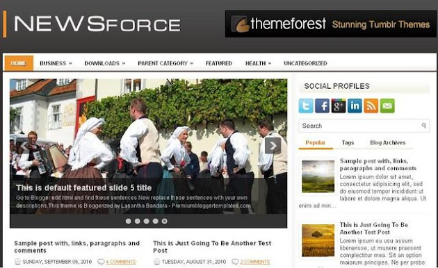 NewsForce Blogger Template