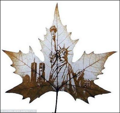 انقش صــورة تحــب الشجــر.. غاية الروعة leaf_painting_art_15