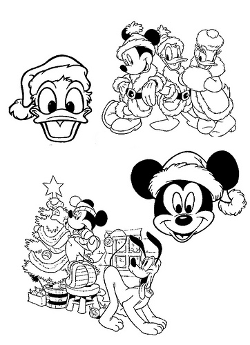 Mickey Mouse Christmas Coloring Pages Coloring Pages