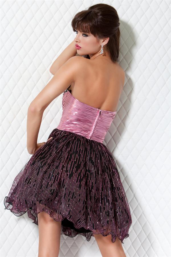 Para Vestidos Noche Cortos Peinados De N0wxp8ok