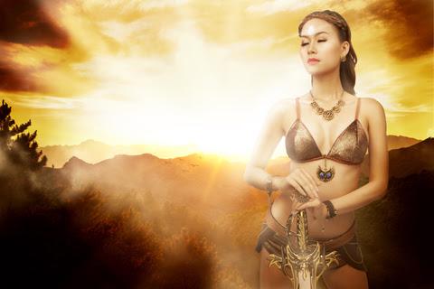 Song nữ khoe dáng với cosplay Truyền Thuyết Bóng Đêm 4