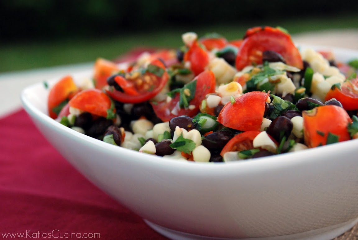 cherry tomato, corn, and black bean salad