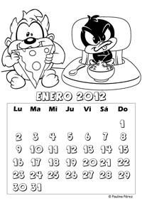 Rinconcito Soleado Calendario 2012 Baby Looney Tunes para