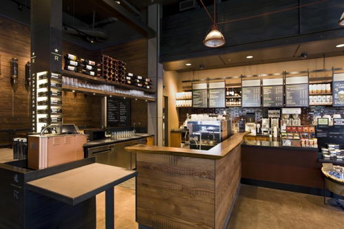 Starbucks, coffee shop, coffee shop design, bar design, store design, unique store design, colorful store design, retail store design