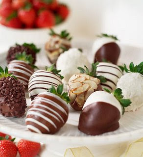 Microwave Chocolate Covered Strawberries by Heaven's Garden