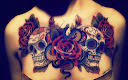 skull-and-roses-tattoo-design-idea9