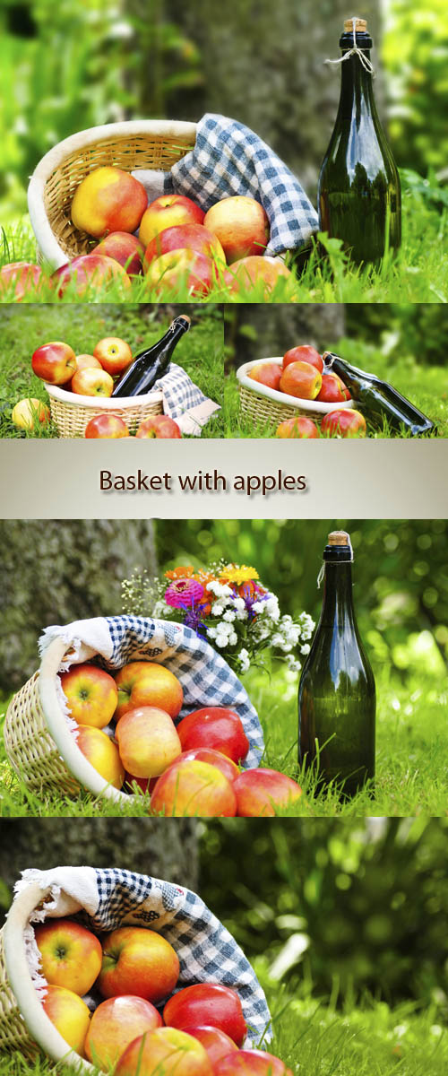 Stock Photo: Basket with apples