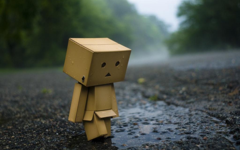 cute Robot Love Wallpaper : Robot Love: Sad but cute robot