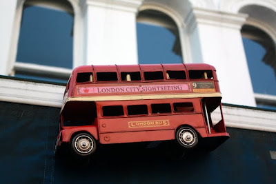 Red bus in Notting Hill London