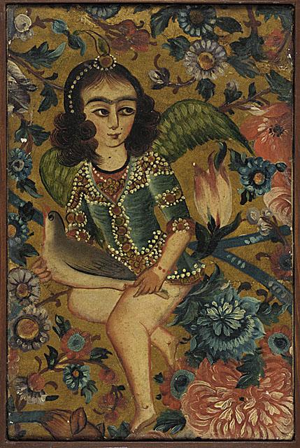 Angel with Bird, Iran, 19th century