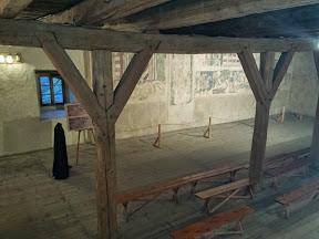 Polichromie z sali rycerskiej wieży w Siedlęcinie