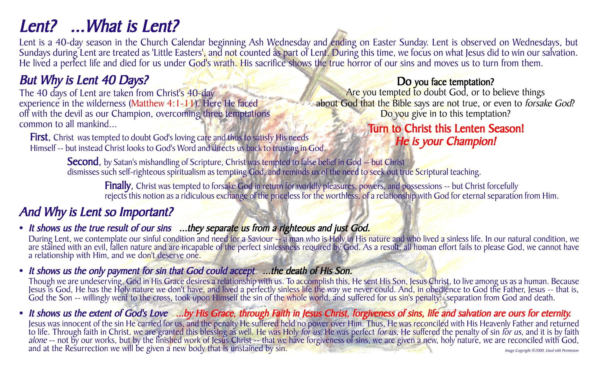 The Church Calendar and Evangelism: Lent