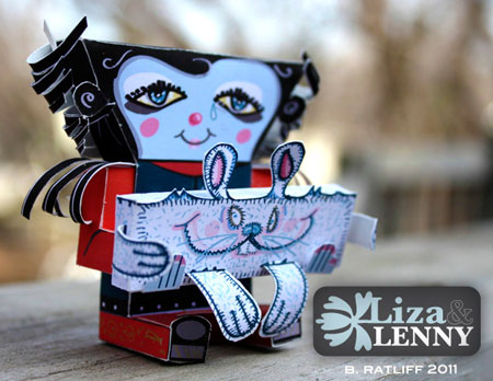Liza and Lenny Paper Toy