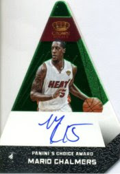 12/13 Panini Preferred Mario Chalmers Green Auto