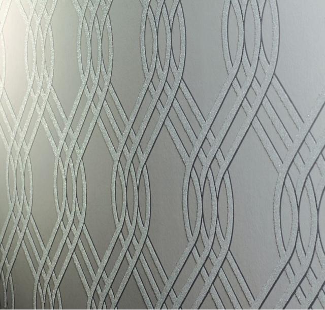 White glam papel de parede prateados e cinzas - Papel paredes ikea ...