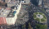 Marcha de los 100 mil, plaza Baquedano, Providencia, Santiago, 16 de junio 2011