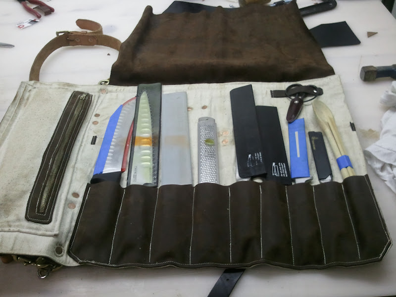 Leather Chef Knife Rolls