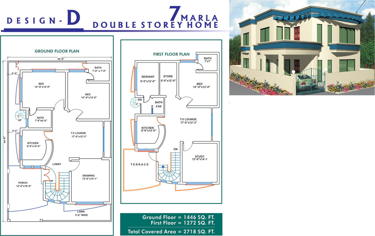 Marla House Map Design As Well As 7 Marla House Design Furthermore 5 ...