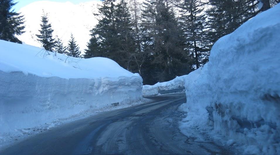 Neve stagione 2008-2009-Strada per Valtorta