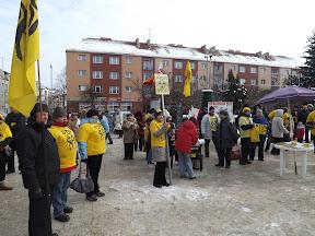 Anti-AKW-Protest in Koszalin (nahe dem geplanten Standort Mileno/PL) Bild A.M.
