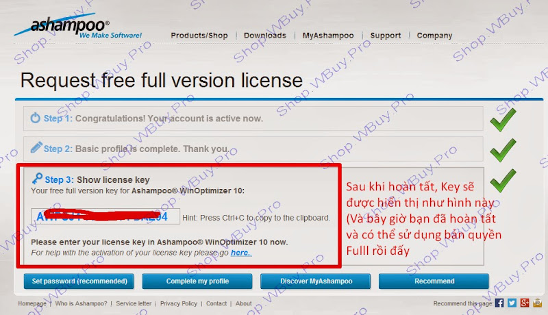 Miễn phí bản quyền Ashampoo WinOptimizer 10 - Shop.WBuy.Pro