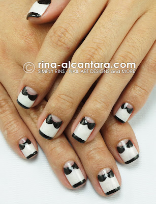 Collared Nail Art Design