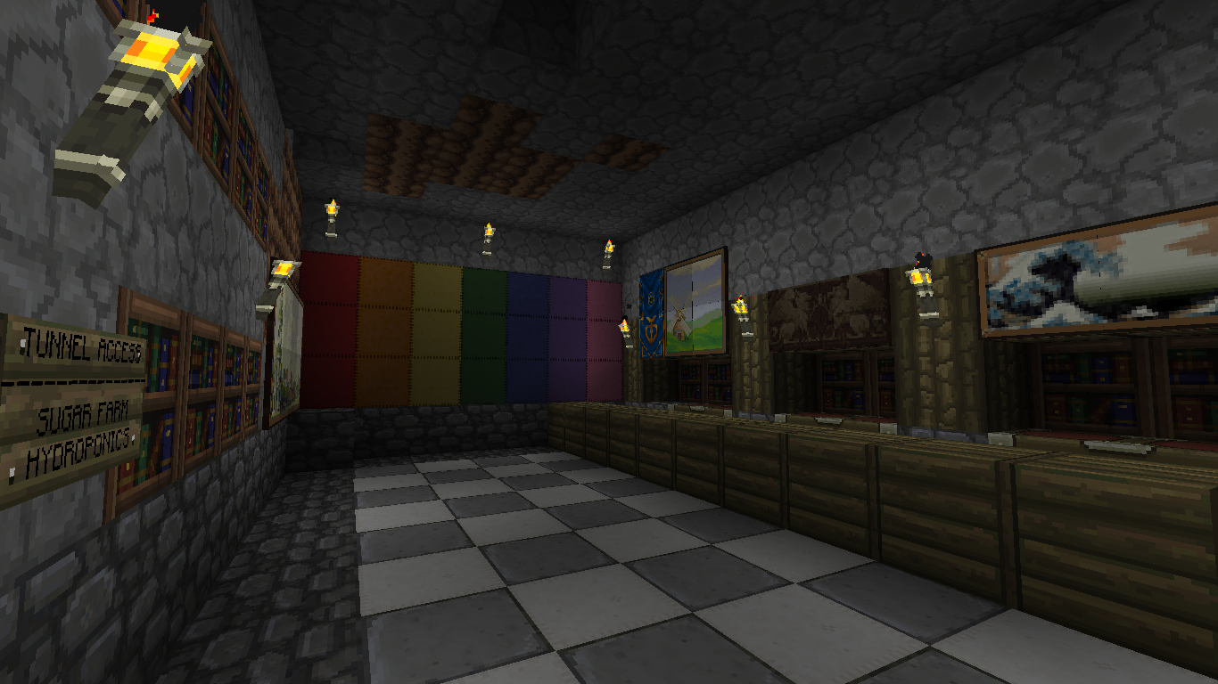 Minecraft ideas basement bar paranoid for Minecraft lounge ideas