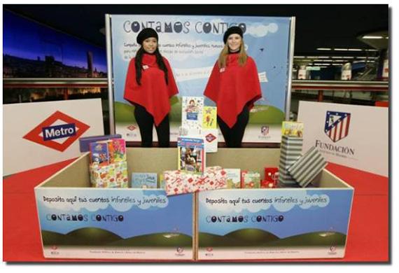 Metro recoge libros y cuentos para niños y jóvenes de residencias de la Comunidad